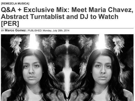 REMEZCLA NYC interview w/ Maria Chavez